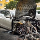 Burnt Benzes in Berlin; Unrepaired Cars Here