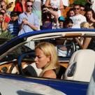 So a Blonde Crashes a Bentley into a Ferrari, Aston Martin, Mercedes and Porsche…